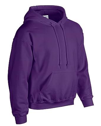 c92923a31 GILDAN Purple Heavy BlendTM Adult Hooded Sweatshirt Womens Mens Hoodie Hoody:  Amazon.co.uk: Clothing