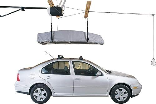 HARKEN Kayak Hoist Overhead Garage Storage, Lifts Load Evenly, Safe Anti-Drop System, 2 1 Mechanical Advantage, Smart Garage Organization for Canoe, SUP, Paddle Board, Surfboard, Wakeboard, Kayak