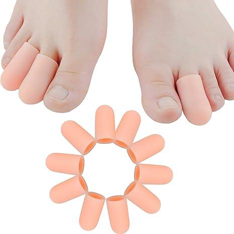 Protección para los dedos de los pies, alivio del dolor, en color carne,