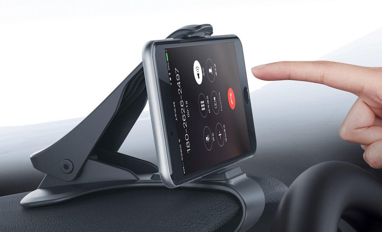 Soporte para Tel/éfono de Coche Montaje M/óvil Universal 3.0-6.5 Pulgadas Sujeta de Pinza Fuerte al Salpicadero para Todos los Smartphones//M/óviles iPhone 5//6//7//8//X y Plus Samsung Huawei Xiaomi HTC LG