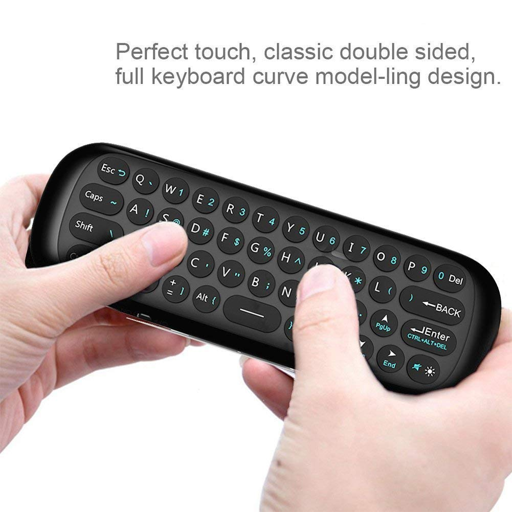 Wechip 2.4G Smart TV Wireless Keyboard Fly Mouse W1 Multifunctional Remote Control for Android TV Box/PC/Smart TV/Projector/HTPC/All-in-one PC/TV (Black) by WeChip (Image #4)