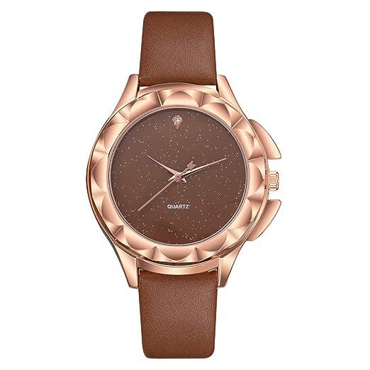 Reloj de Pulsera clásico para Mujer,Moda Correa de Silicona Cuarzo Casual de Lujo para