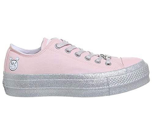 3d208537b55d66 Converse Women s X Miley Cyrus Chuck Taylor All Star Lo Sneaker Pink  Dogwood White Black 9573