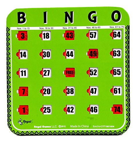 - Regal Games Family Bingo 8 Card Booster Expansion Packs (Green)