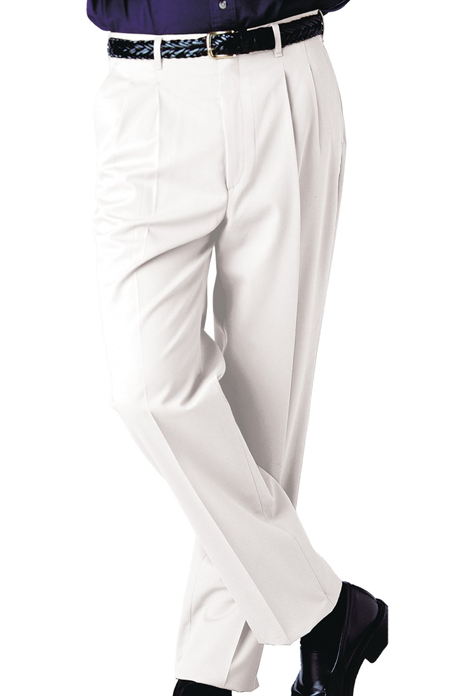 Ed Garments Men's 2610 Dress Pants (White 32 32) by Edwards Garment