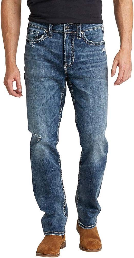 Silver Jeans Co. メンズ グレイソン ストレート レッグ ダークウォッシュ ジーンズ