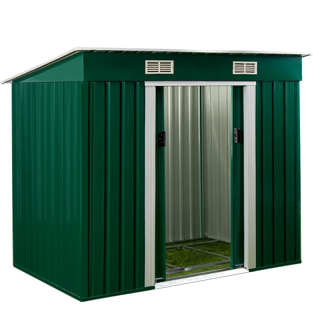 Deuba Metal Garden Shed - 6x4 Ft. Anthracite Grey Tool Shed Outdoor Garden Storage - Galvanized Steel - 3.35 m³
