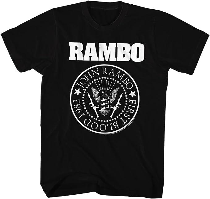 2Bhip Rambo Película de Acción y Aventura rambones Camiseta para Hombre X-Grande Negro: Amazon.es: Ropa y accesorios