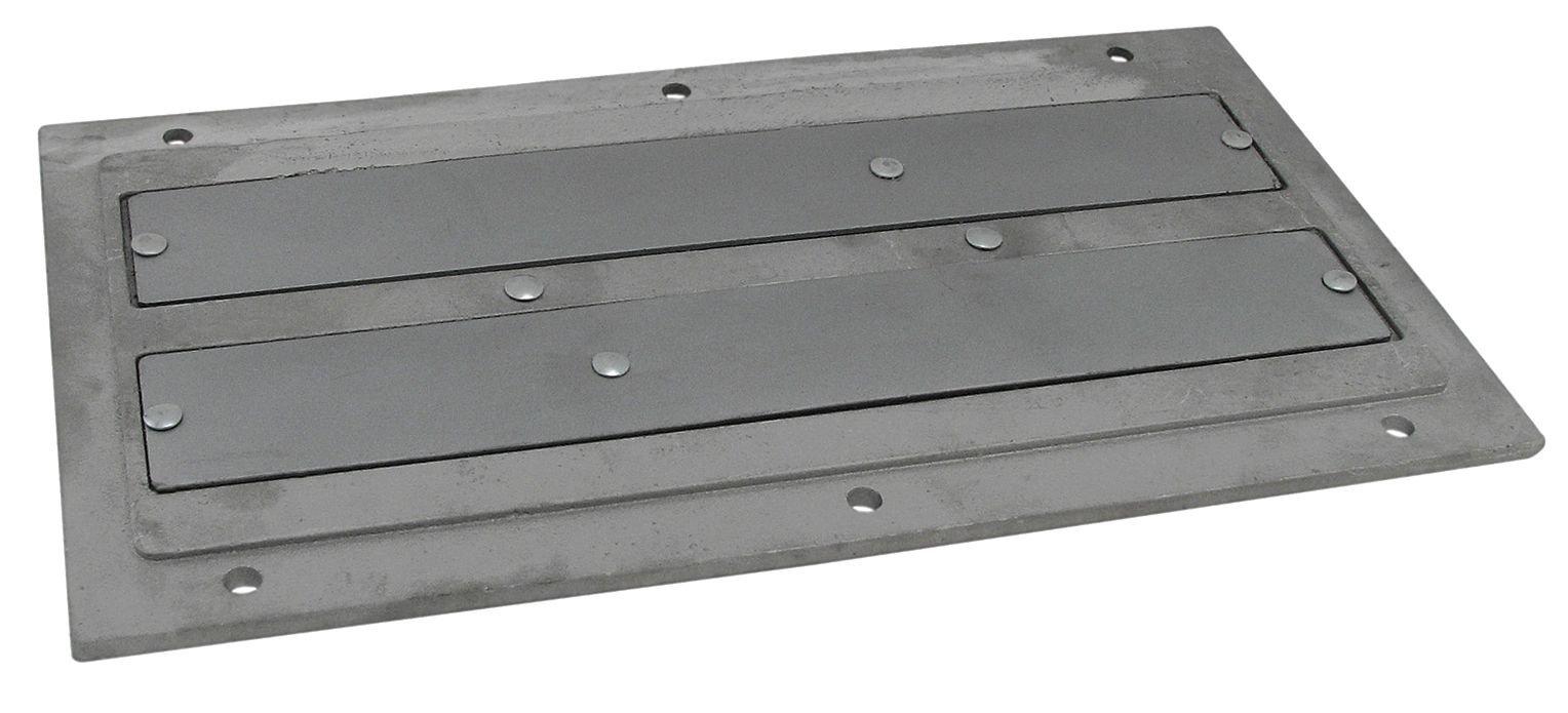 Industrial Grade 10E729 Plate Magnet, 18-1/2 x 5-5/8 In, Ceramic, SS