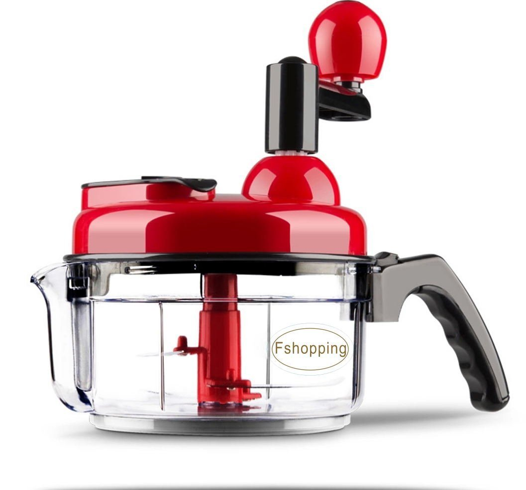 Fshopping hand crank food processor chopper