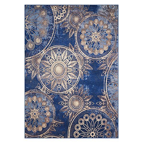Nourison Somerset ST764 Modern Bohemian Denim Blue Area Rug 7 Feet 9 Inches by 10 Feet 10 Inches , 7'9
