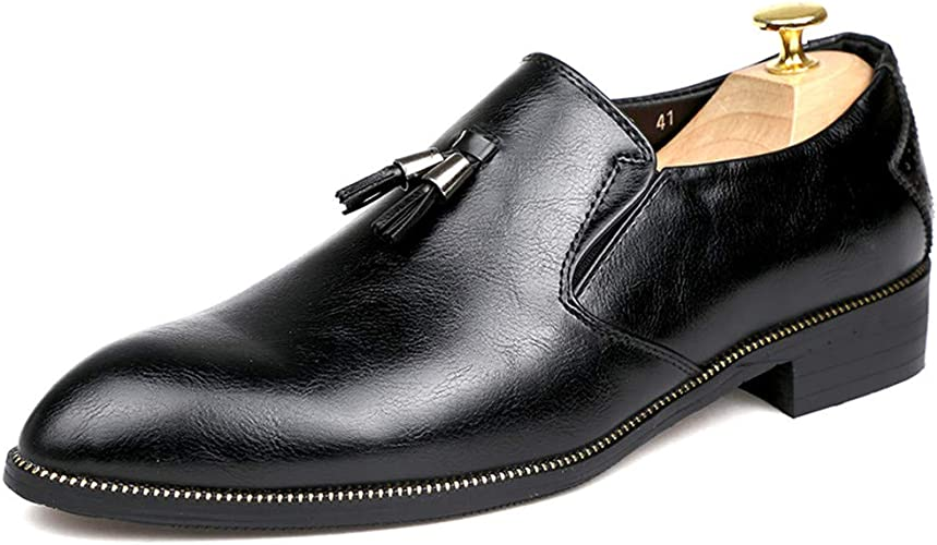 TongLing Mens Fashion Oxford Casual Comfortable Lightweight Soft Slip Formal Shoes Dress Shoes