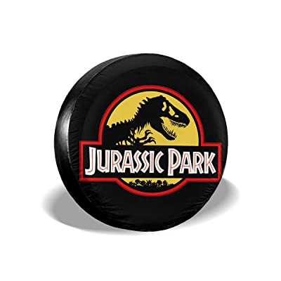 """Chapman23Becky Melville Jurassic Park Spare Tire Cover Polyester Universal Dust-Proof Waterproof Wheel Covers for Trailer RV SUV Truck and Many Vehicles (14"""" 15"""" 16"""" 17""""): Home & Kitchen"""