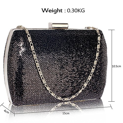 Evening Black Stunning Bag DELIVERY FREE Hard UK Case Silver dqFxnrIw4F