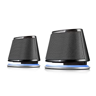 Satechi Dual Sonic Speaker 2.0 Channel Computer Speakers for iMac, 2015 MacBook Pro, MacBook Air, Dell, HP XPS, Sony, Samsung, Asus and more (Black)