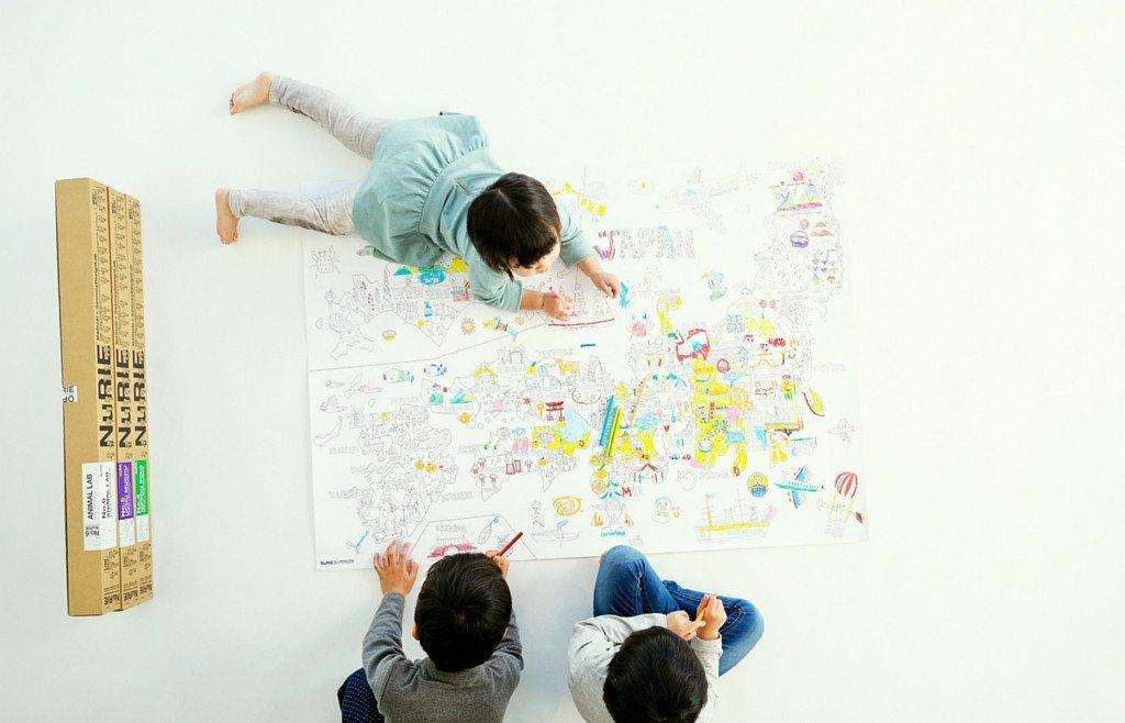 Nurie Universo papel hecho - Póster gigante para colorear para niños ...
