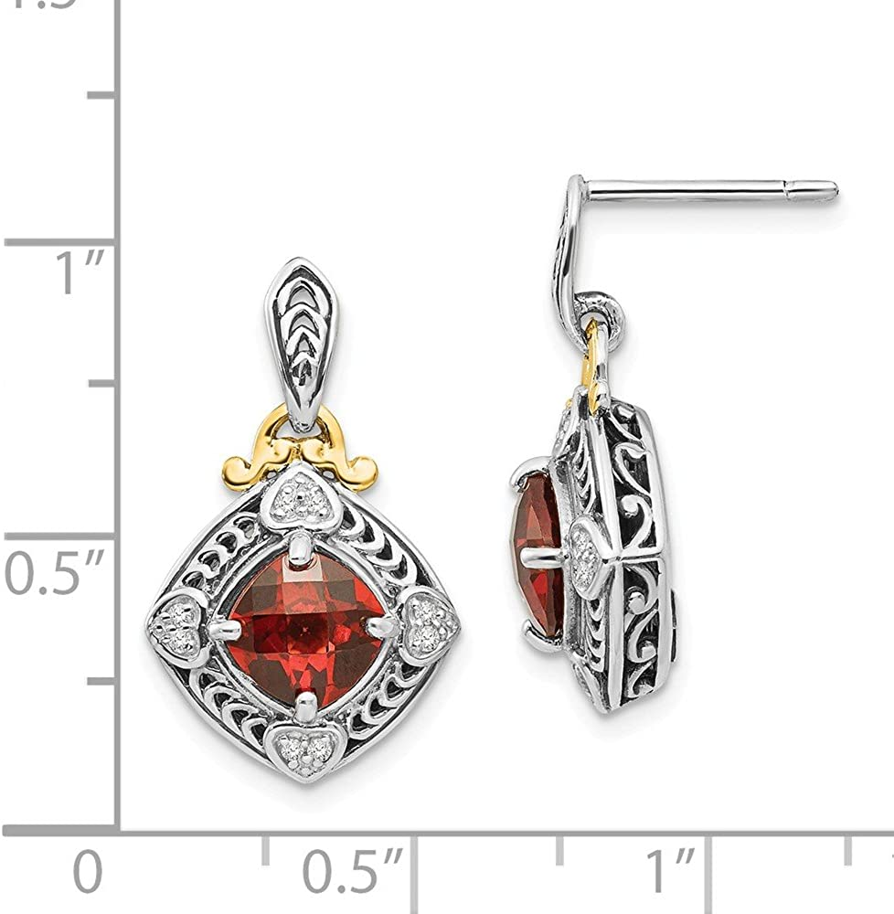 Shey Couture Sterling Silver with 14k Diamond Earrings One Size