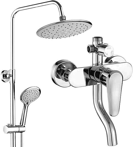 Columna de ducha, kit | cuerpo de cobre fino + manguera de acero ...