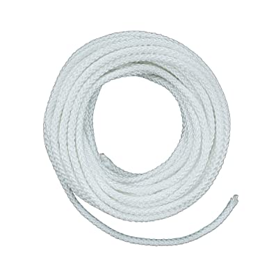 Lehigh ND6100X 3/16-Inch by 100-Feet Nylon Diamond Braided Rope, White - Dynamic Rope - .com