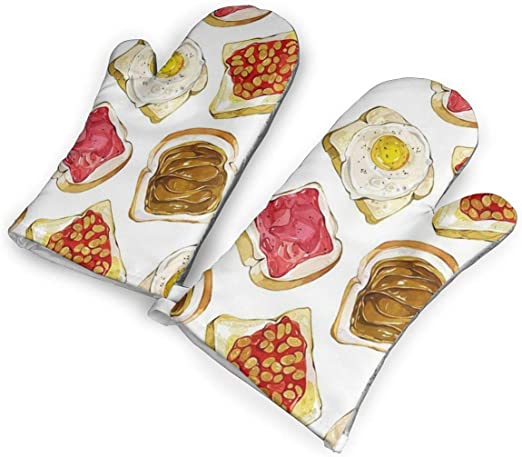 Microwave Oven Gloves Thick Soft Printed Pattern Fashion Cotton Kitchen Supplies
