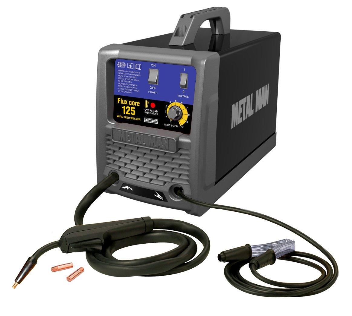 Metal Man FC125 125-Amp/115-Volt Flux Core Wire Feed Welder