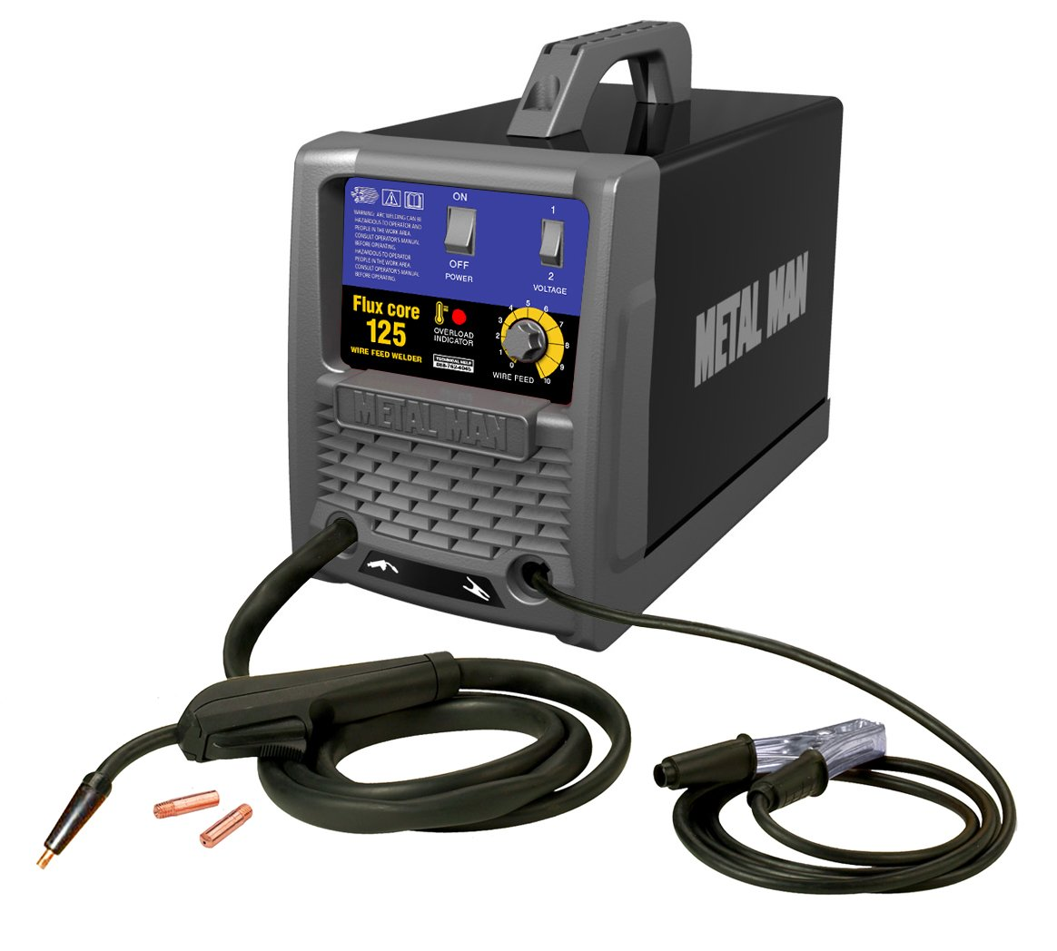 Metal Man FC125 125-Amp/115-Volt Flux Core Wire Feed Welder by Metal Man