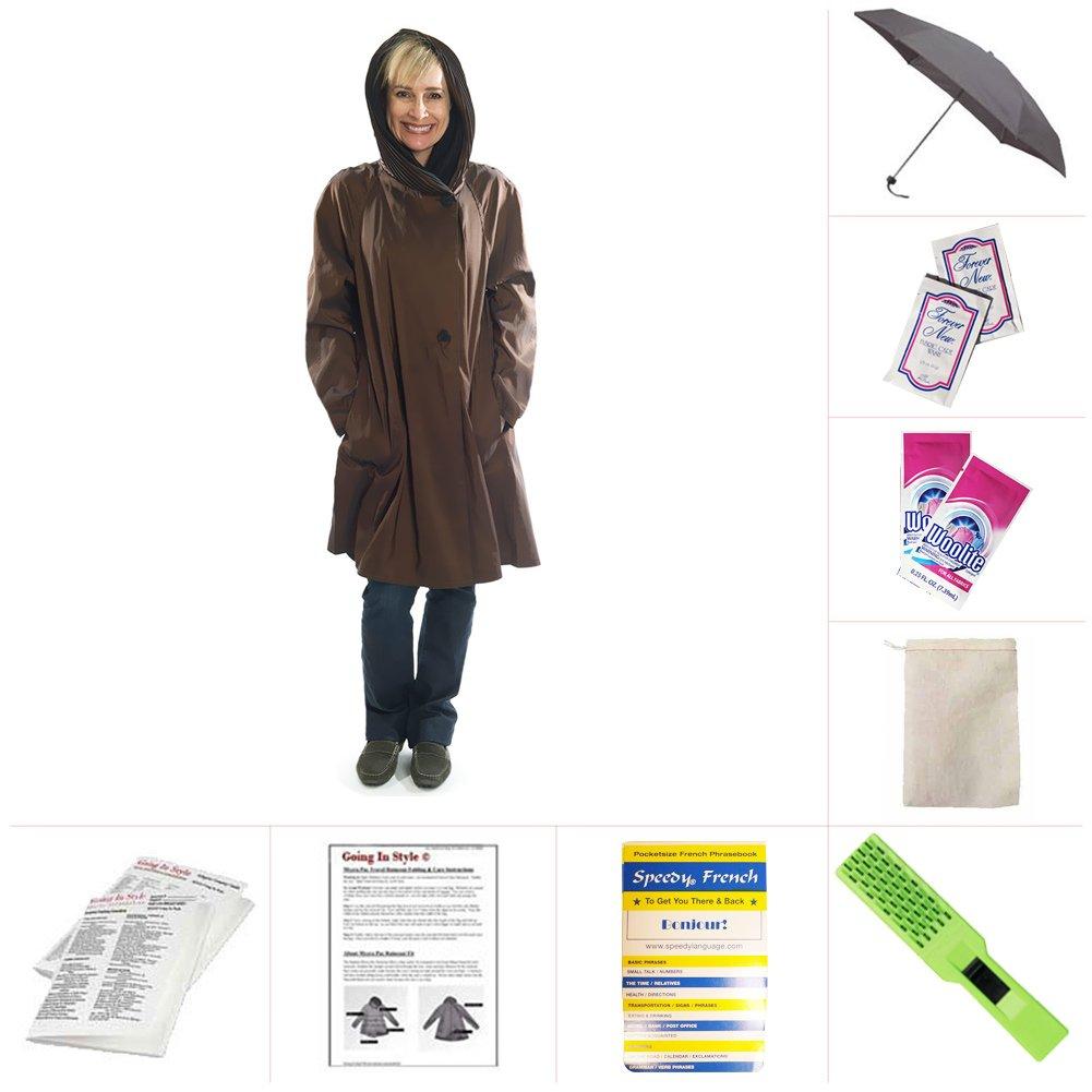 Mycra Pac Short Donatella Fashion Travel Raincoat by Mycra Pac