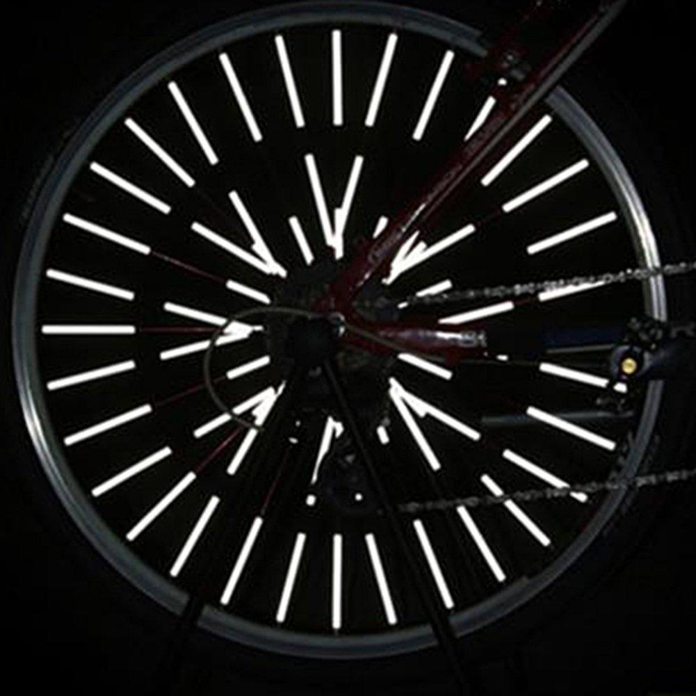 12pcs Bicycle Wheel Spoke Reflector Reflective Mount Clip Tube