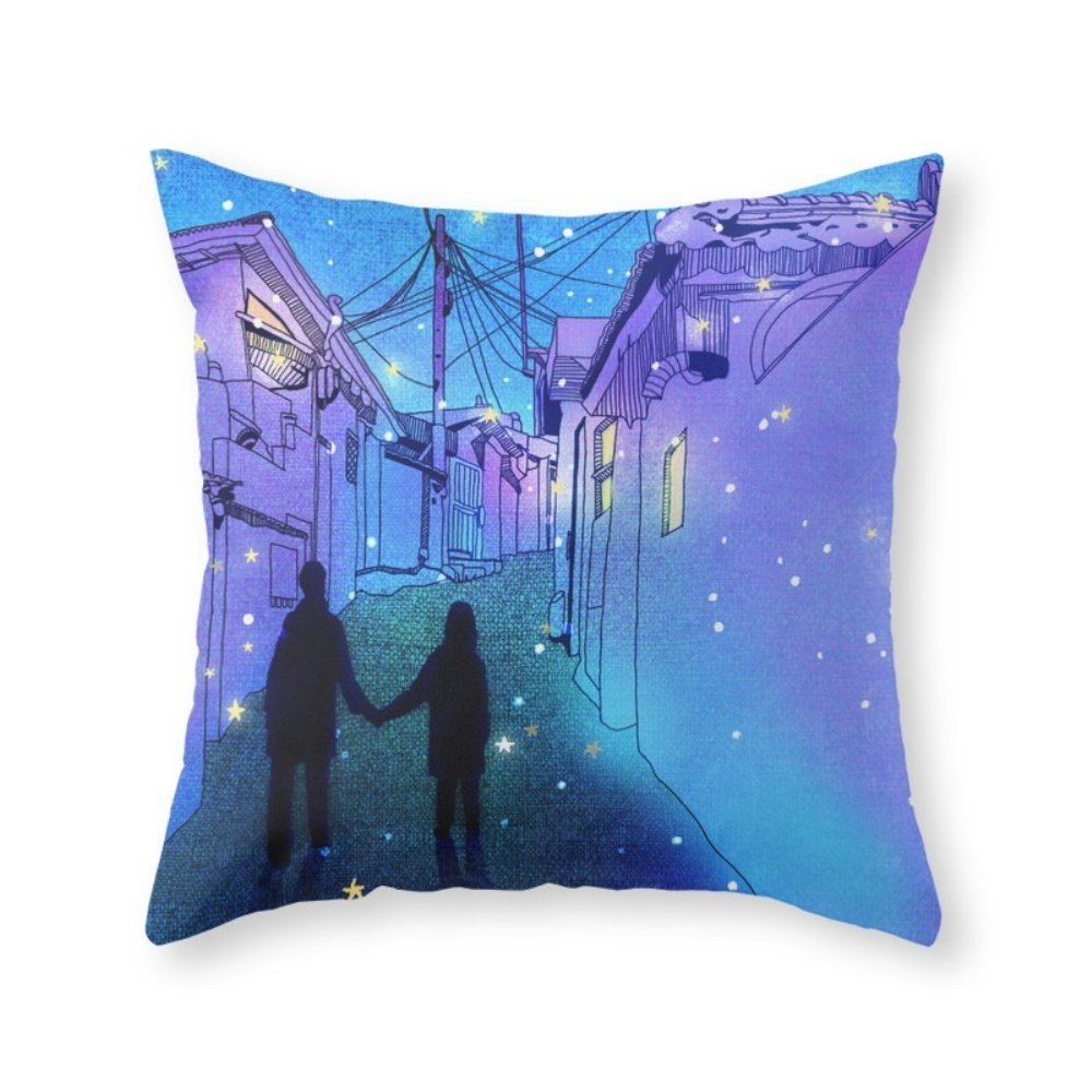 Society6 Every Day With You Throw Pillow Indoor Cover (20'' x 20'') with pillow insert
