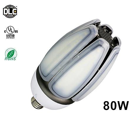 RDJM LED Bombilla Corn, 6000 Lumen Luz De Día Blanca Fría LED Alumbrado Público,