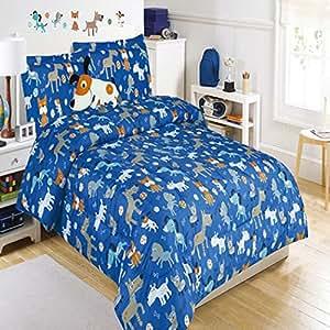 Amazon.com: 5 piece Kids Full Dog Themed Comforter Set
