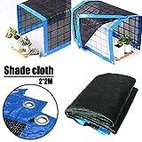 Johlycao Sun Mesh Shade Net, 70% Sunblock Shade Cloth Net Black UV Resistant Garden Shade Mesh Durable Flower Plant Cover for Garden Greenhouse Outdoor Cover