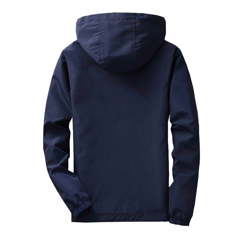 Feroni 2018 Plus Size Mens Spring Summer Hooded Jacket ...