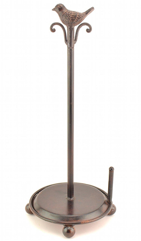 Upper Deck Supporto per rotolo di carta da cucina in metallo uccello, altezza 42,5cm. COMIN16JU004157