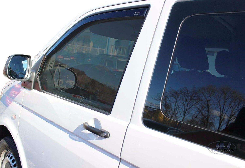 Deflecteurs dair D/éflecteurs de Vent Compatible avec T5 T6 Transporter Caravelle Multivan J/&J AUTOMOTIVE