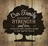 P. Graham Dunn Our Family Circle of Strength Rustic Tree 10 x 10 Wood Pallet Design Wall Art Sign Plaque