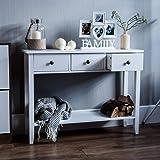 Home Windsor 3 Drawer Console Table Shelf, White Wooden Hallway Living Room Bedroom Dressing Dresser Desk Furniture