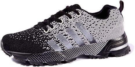 WDDGPZYDX Tallas Grandes 35-47 Unisex Colores par Zapatillas de Colores Mezclados Antideslizantes Hombres Zapatos Casuales Transpirable Tenis Mans Calzados,Negro,5: Amazon.es: Deportes y aire libre