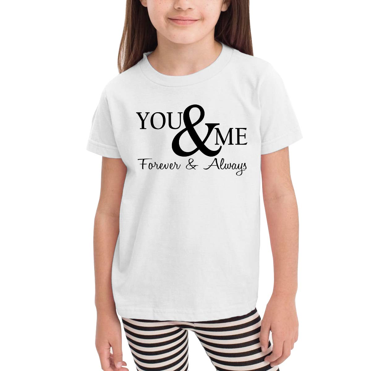 Onlybabycare You /& Me Forever /& Always 100/% Cotton Toddler Baby Boys Girls Kids Short Sleeve T Shirt Top Tee Clothes 2-6 T