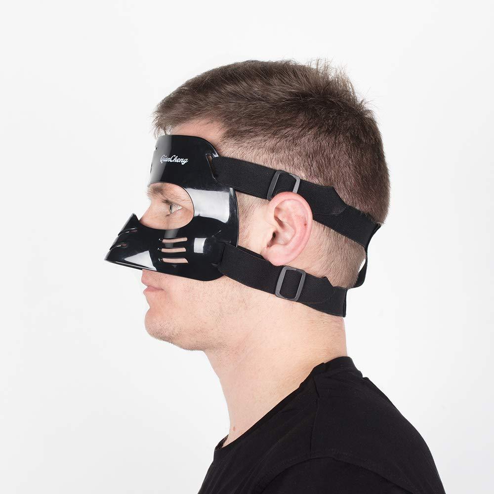 QianCheng Masque de Protection pour Le Nez avec Rembourrage en Silicone Noir