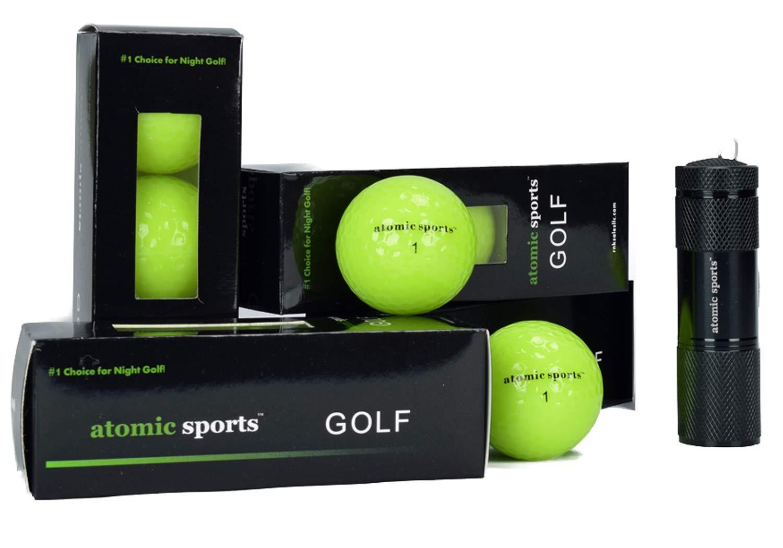 atomic sports 12 Golf Balls - Glow in The Dark Golf Balls