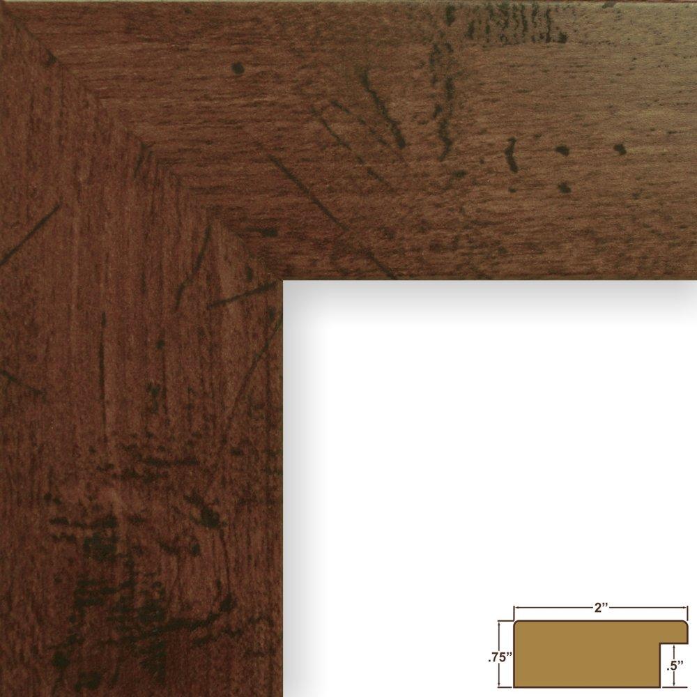Amazon.com - Craig Frames Bauhaus 200, Rustic Dark Walnut Brown ...
