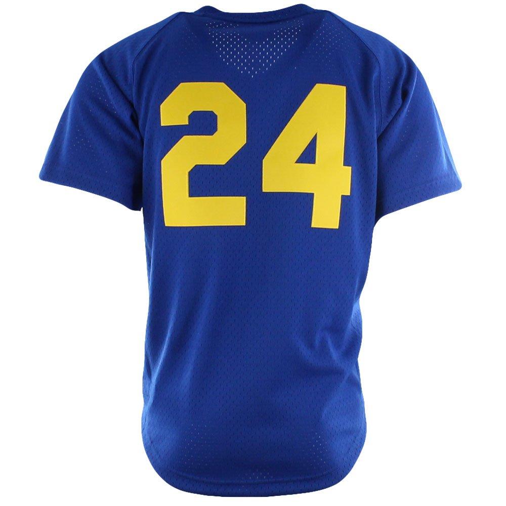 6c524fe1 Amazon.com : Mitchell & Ness Ken Griffey Jr 1991 Seattle Mariners Authentic  BP Jersey Men's : Sports & Outdoors