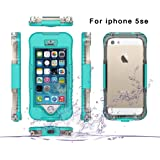 iPhone 5SE 5S 5 Case, Moonmini Waterproof Shockproof Dirtproof Durable Full Sealed Protection Case Cover for iPhone 5SE 5S 5, Green