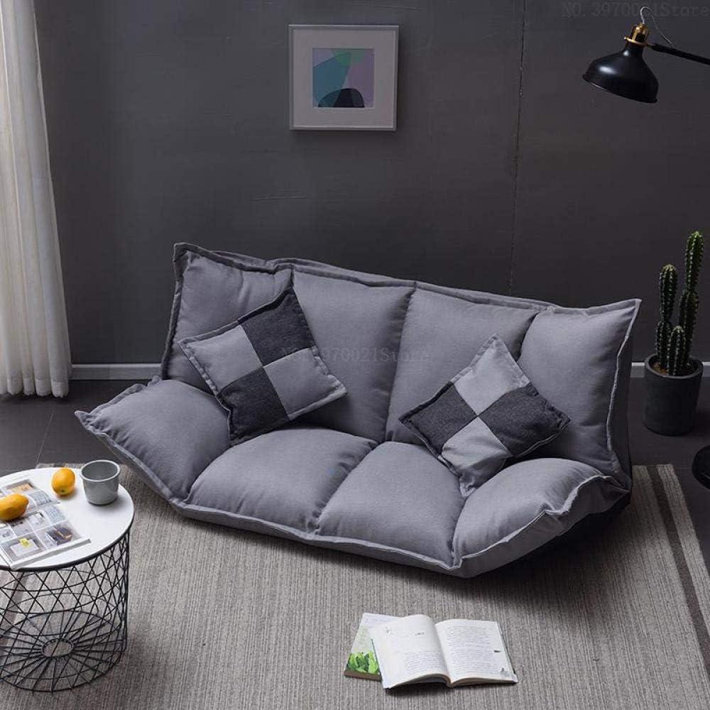 CC.Stars Silla de Piso con Respaldo ,,Sofá Perezoso, sofá Cama Plegable de Tatami, sofá Doble de Doble Uso, sillón pequeño de Dormitorio Multifuncional, -13