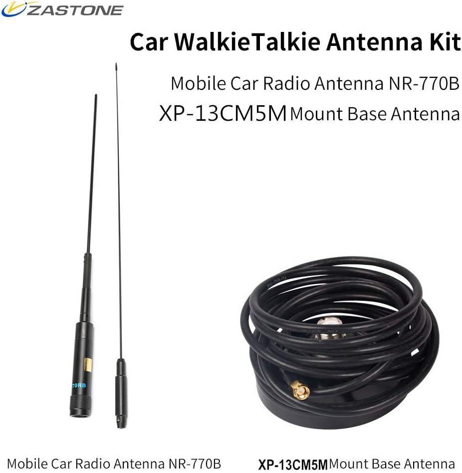 Zastone NL770R PL259 Antena de radio móvil de largo alcance ...