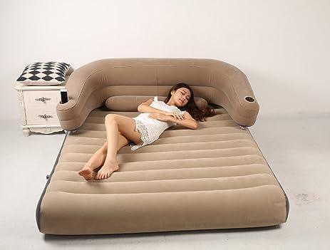 Modovo 1 In 2 Backrest Air Mattress Sofa With Removable Back Cushion U0026  Lumbar