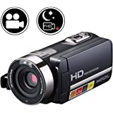 SEREE Infrared Night Vision Camcorder Video Camera FHD 1080P IR 16X Zoom 3 Inch Touch Screen Portable Digital DV Recorder