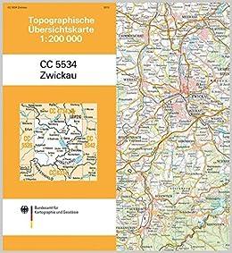 Zwickau Karte.Zwickau Topographische Karte 1 200 000 Cc5534 Topographische