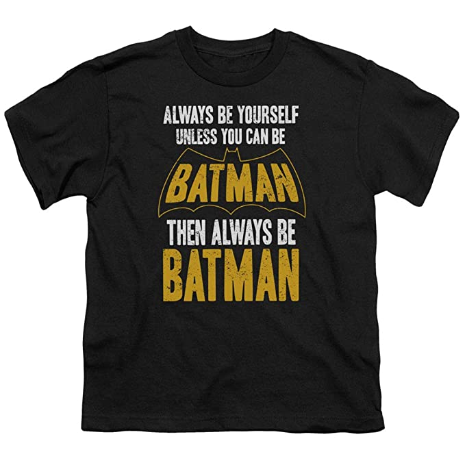 aec6cec44 Batman Always Be Yourself Youth DC Comics T Shirt & Exclusive Stickers  (Small)